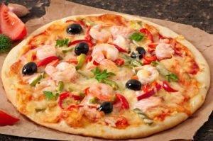 Receta de Pizza de Camarones